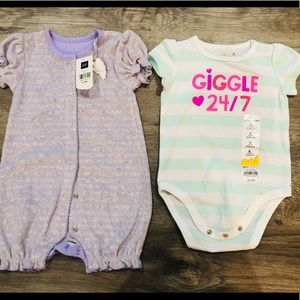 NWT Gap&Jumping beans baby girls body suits sz6m